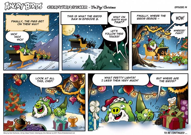 Комикс Angry Birds: The Birds' Christmas - Часть 14