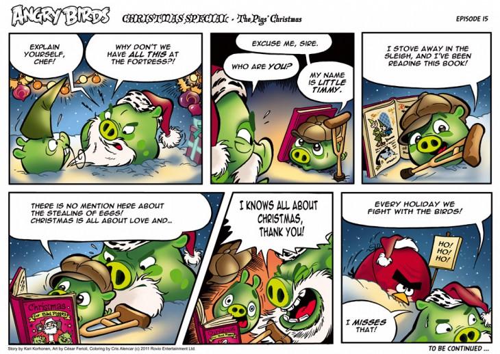 Комикс Angry Birds: The Birds' Christmas - Часть 15