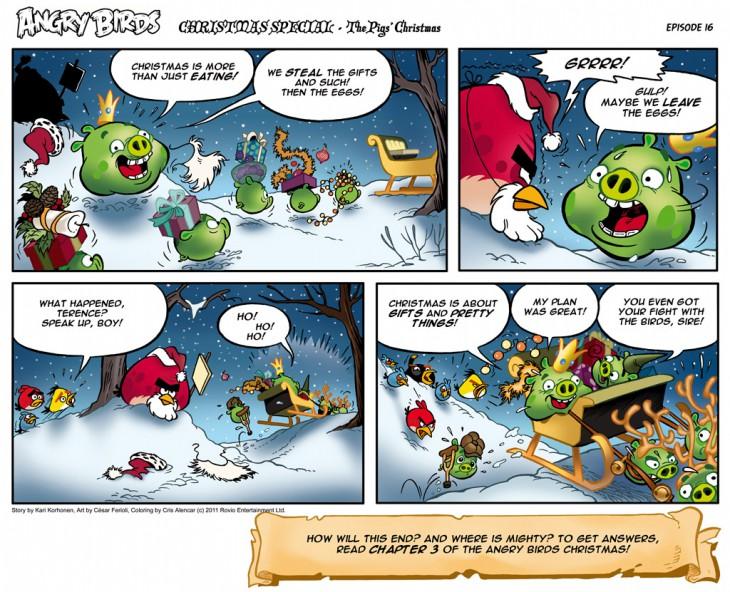 Комикс Angry Birds: The Birds' Christmas - Часть 16