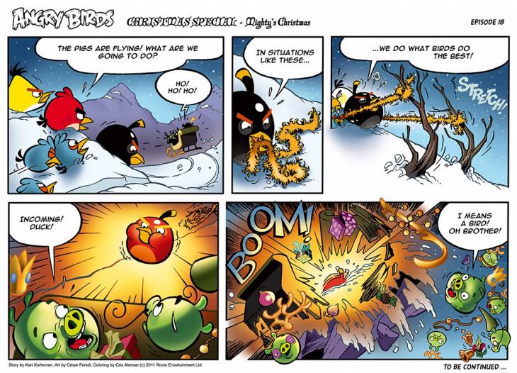 Комикс Angry Birds: The Birds' Christmas - Часть 18