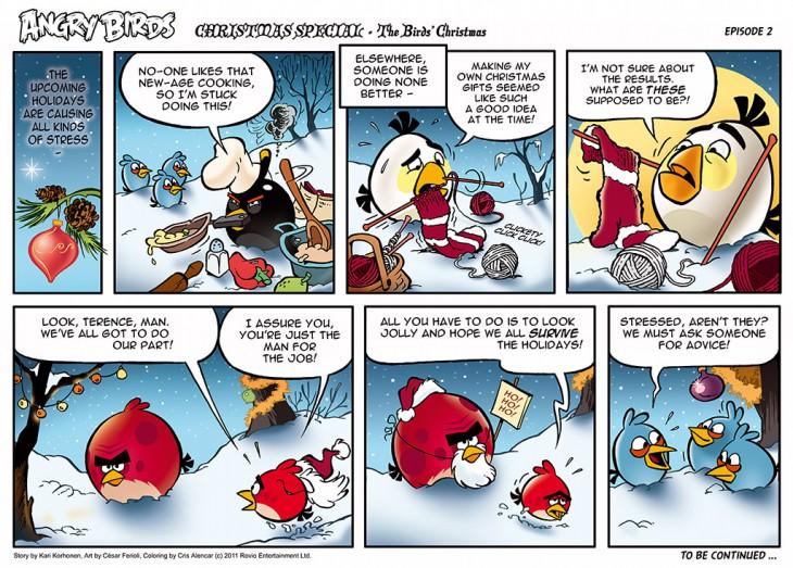 Комикс Angry Birds: The Birds' Christmas - Часть 2