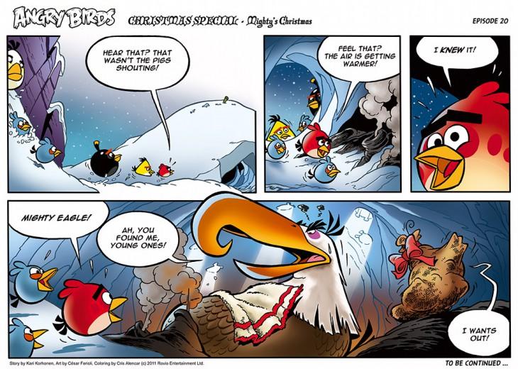 Комикс Angry Birds: The Birds' Christmas - Часть 20