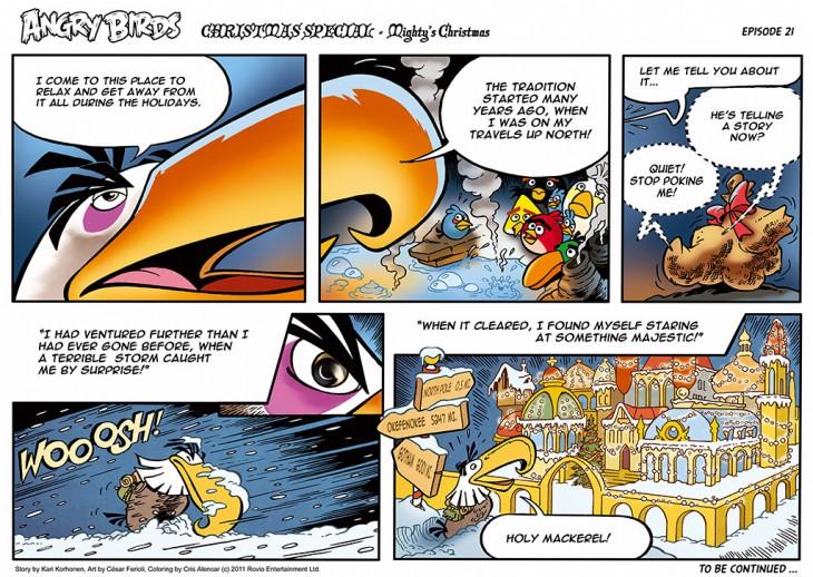 Комикс Angry Birds: The Birds' Christmas - Часть 21