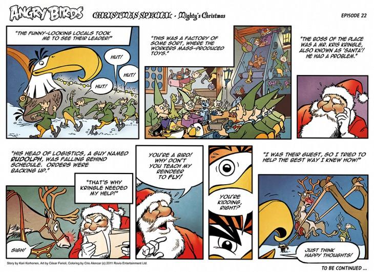 Комикс Angry Birds: The Birds' Christmas - Часть 22