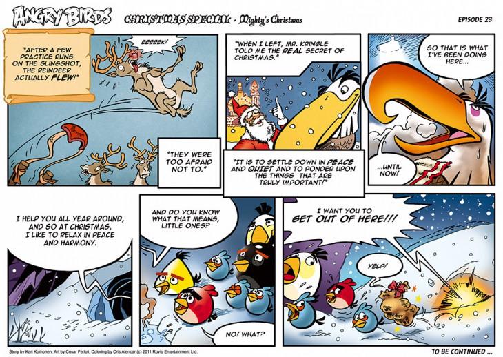 Комикс Angry Birds: The Birds' Christmas - Часть 23
