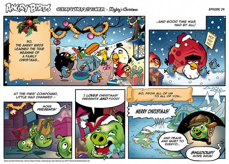 Комикс Angry Birds: The Birds' Christmas - Часть 24