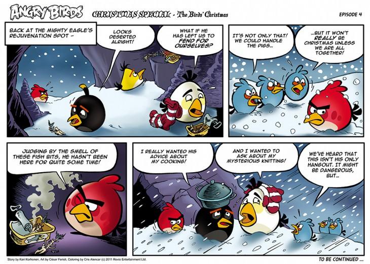 Комикс Angry Birds: The Birds' Christmas - Часть 3