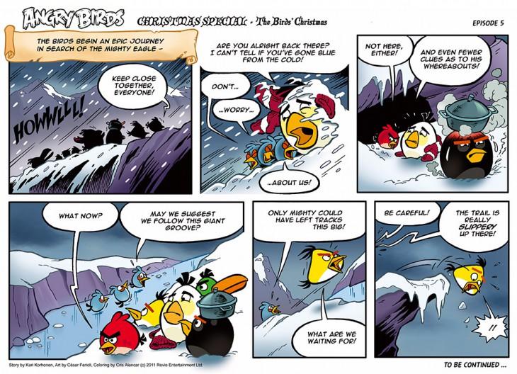 Комикс Angry Birds: The Birds' Christmas - Часть 5