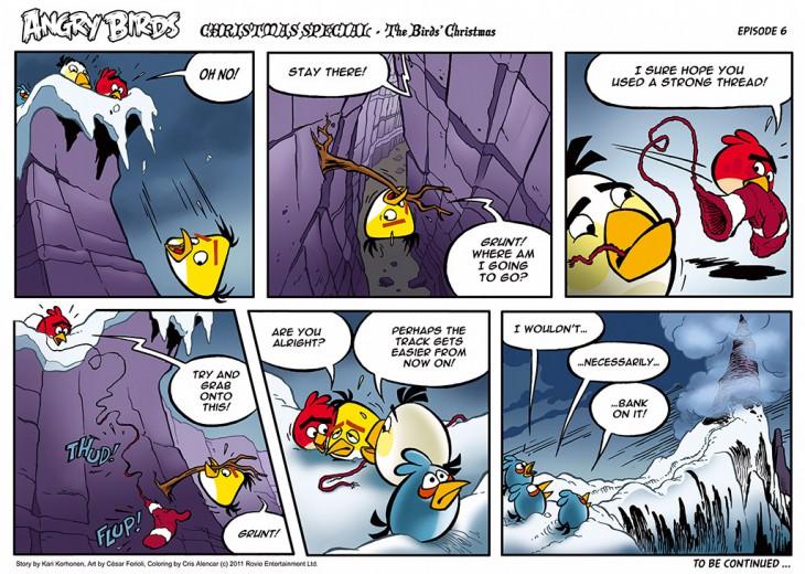 Комикс Angry Birds: The Birds' Christmas - Часть 6