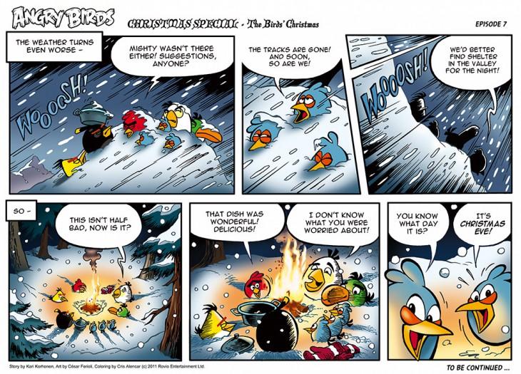 Комикс Angry Birds: The Birds' Christmas - Часть 7