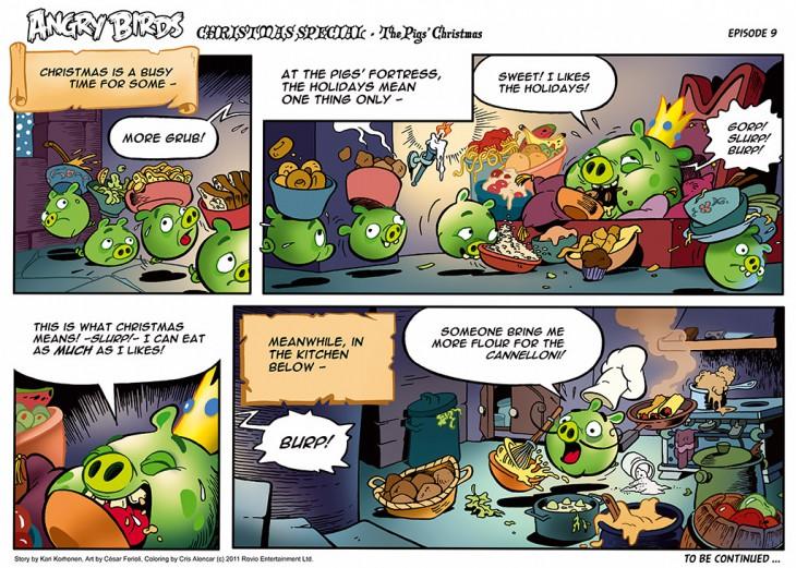 Комикс Angry Birds: The Birds' Christmas - Часть 9