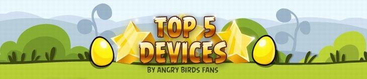 Опрос о лучшем устройстве для игры в Angry Birds