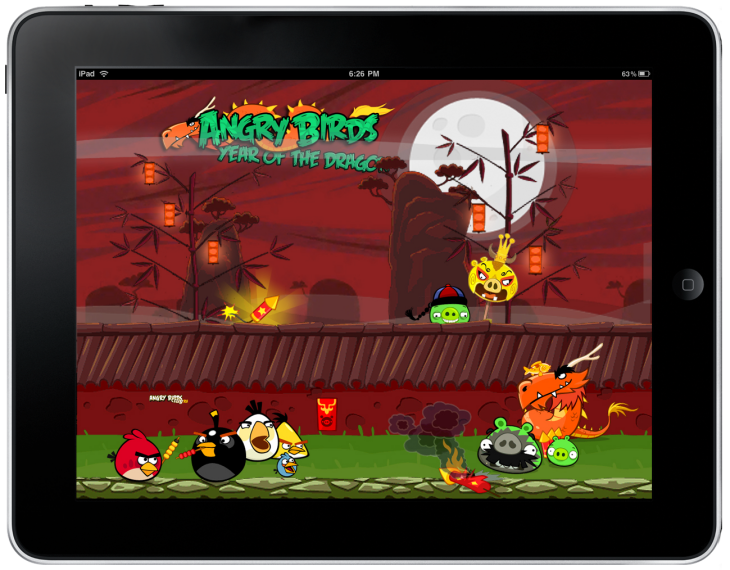 Обои Angry Birds Seasons - Year of the Dragon