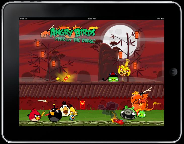 Обои Angry Birds Seasons - Year of the Dragon
