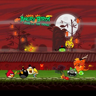 Обои Angry Birds Seasons Year of the Dragon на iPad