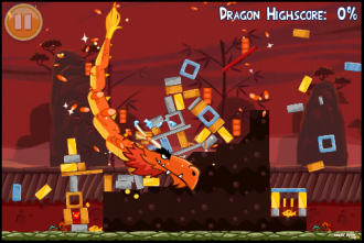 Angry Birds Seasons: Year of the Dragon - Дракон в действии
