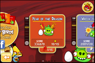 Angry Birds Seasons: Year of the Dragon - выбор эпизода
