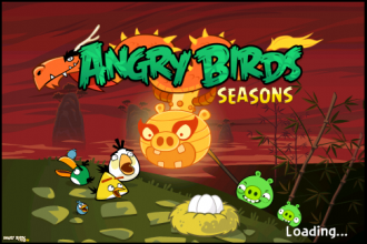 Angry Birds Seasons: Year of the Dragon - экран загрузки