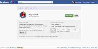 Angry Birds Facebook - Авторизация