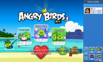 Angry Birds Facebook - Главный экран
