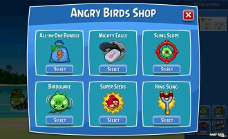 Angry Birds Facebook - Магазинчик