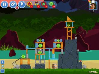Angry Birds Facebook: Эпизод Surf & Turf - Уровень 16