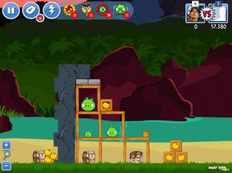 Angry Birds Facebook: Эпизод Surf & Turf - Уровень 18