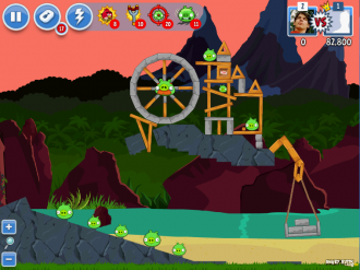Angry Birds Facebook: Эпизод Surf & Turf - Уровень 30