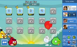 Angry Birds Facebook: Surf and Turf - Выбор уровня