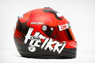 Шлем Angry Birds Формула 1 - вид сбоку