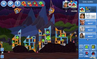 Angry Birds Facebook: Эпизод Surf & Turf - Уровень 45