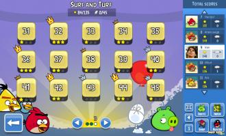 Angry Birds Facebook: Эпизод Surf & Turf - Локация 3 - Выбор уровня