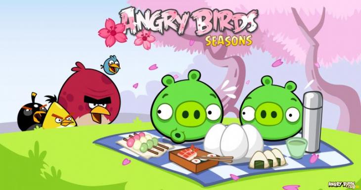 Вышел новый эпизод Angry Birds Seasons - Cheery Blossom (Сакура)