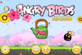 Angry Birds Seasons - Cherry Blossom - Главное меню