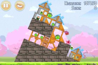 Angry Birds Seasons - Cherry Blossom - Уровень 1