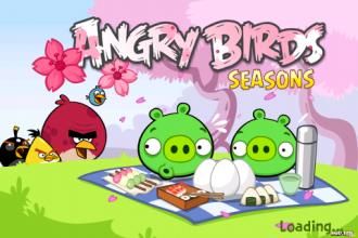 Angry Birds Seasons - Cherry Blossom - Экран загрузки