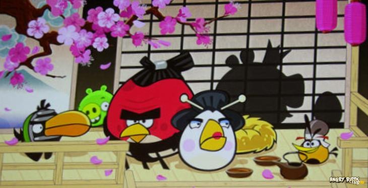 В марте выйдет новый эпизод Angry Birds Seasons Cherry Blossom (Сакура)