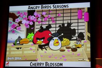 Презентация Angry Birds Seasons Cherry Blossom в Японии