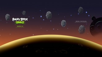 Обои Angry Birds Space астероиды 1920x1080