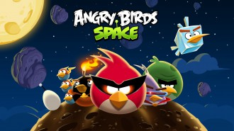 Обои Angry Birds Space стая 1920x1080