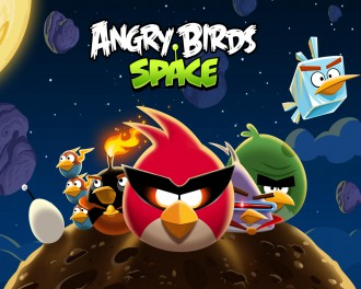 Обои Angry Birds Space стая 1280x1024