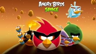 Обои Angry Birds Space стая (светлая) 1920x1080