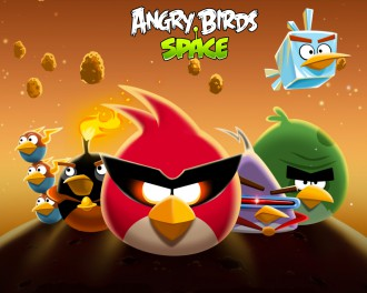 Обои Angry Birds Space стая (светлая) 1280x1024