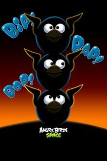 Angry Birds Space Синие птицы обои для iPhone