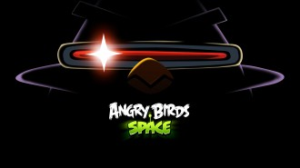 Обои Angry Birds Space Птица-лазер 1920x1080