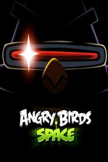 Angry Birds Space Птица-лазер в темноте обои для iPhone