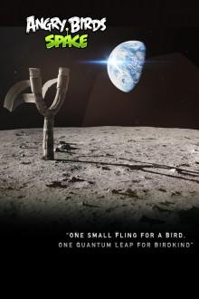 Angry Birds Space Лунная рогатка Обои для iPhone