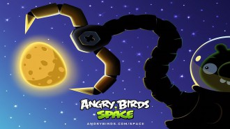 Обои Angry Birds Space клешня 1920x1080
