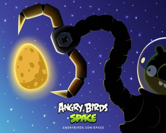 Обои Angry Birds Space клешня 1280x1024