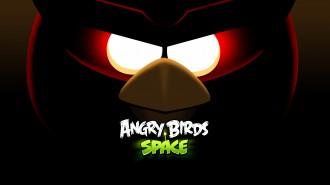 Обои Angry Birds Space глаза Красной птицы 1920x1080